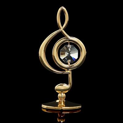 Сувенир «Скрипичный ключ», 3х3,6х7,8 см, с кристаллами Сваровски - Фото 1