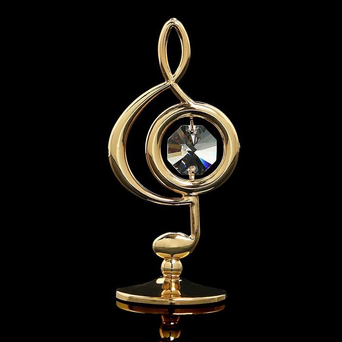 Сувенир «Скрипичный ключ», 3х3,6х7,8 см, с кристаллами Сваровски