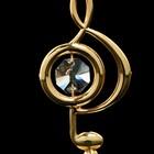 Сувенир «Скрипичный ключ», 3х3,6х7,8 см, с кристаллами Сваровски - Фото 5