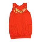Сарафан для девочки, рост 104 см, цвет оранжевый
