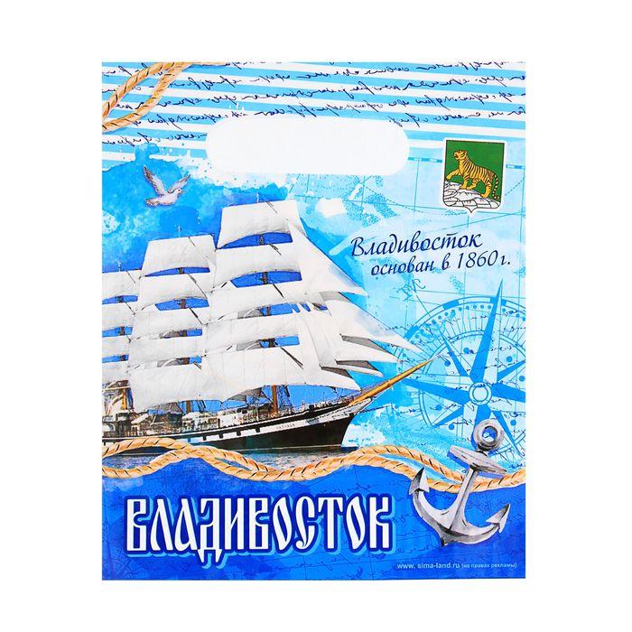 Пакет подарочный Владивосток. Морской