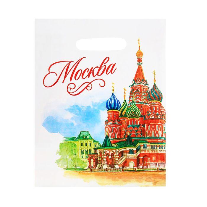 Пакет подарочный Москва. Акварель