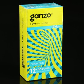 Презервативы «Ganzo» RIBS, ребристые, 12 шт
