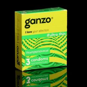 Презервативы «Ganzo» Ultra thin, ультра тонкие, 3 шт Ош