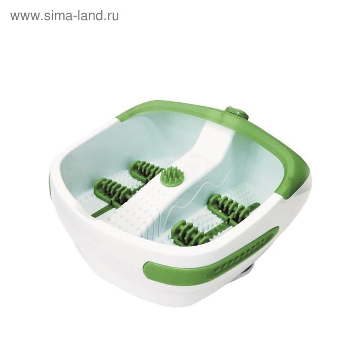 Гидромассажная ванна для ног FM-HT001, 90 Вт, 4 роликовые насадки, бело-зелёная