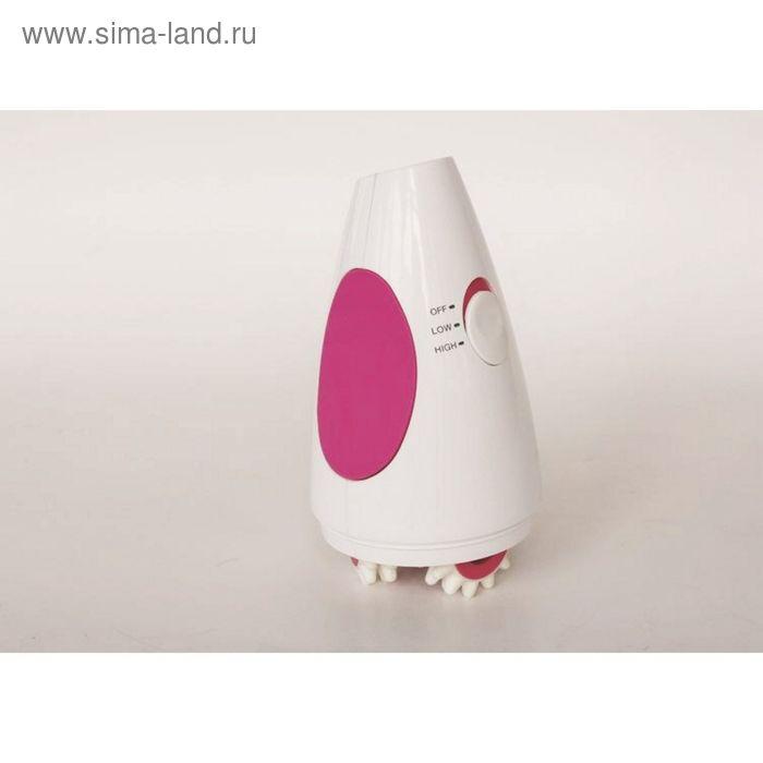 Массажёр SR12B, антицеллюлитный, вибрационный, для тела, бело-розовый