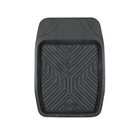 Коврик автомобильный универсальный AUTOPROFI TER-150f BK для переднего ряда, универсальный, ванночка, термопласт, 69х48 см, цвет чёрный Ош