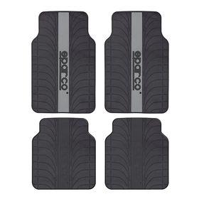 Коврики автомобильные универсальные SPARCO, серия Racing, SPC/RCN-504 BK/GY, морозоустойчивые, эластичный ПВХ, 4 предмета, цвет чёрный/серый