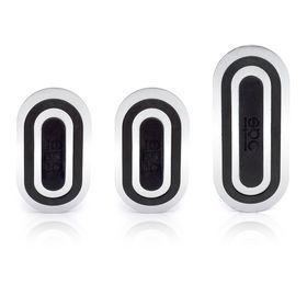 Накладки на педали SPARCO SPC/PD-URB AL/BK, серия Urban,алюминиевые, комплект из 3 штук для МКПП, цвет алюминиевый/чёрный Ош