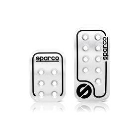 Накладки на педали SPARCO SPC/PD-RCN AL/BK , серия Racing, алюминиевые, комплект из 2 штук для АКПП, цвет алюминиевый/чёрный Ош