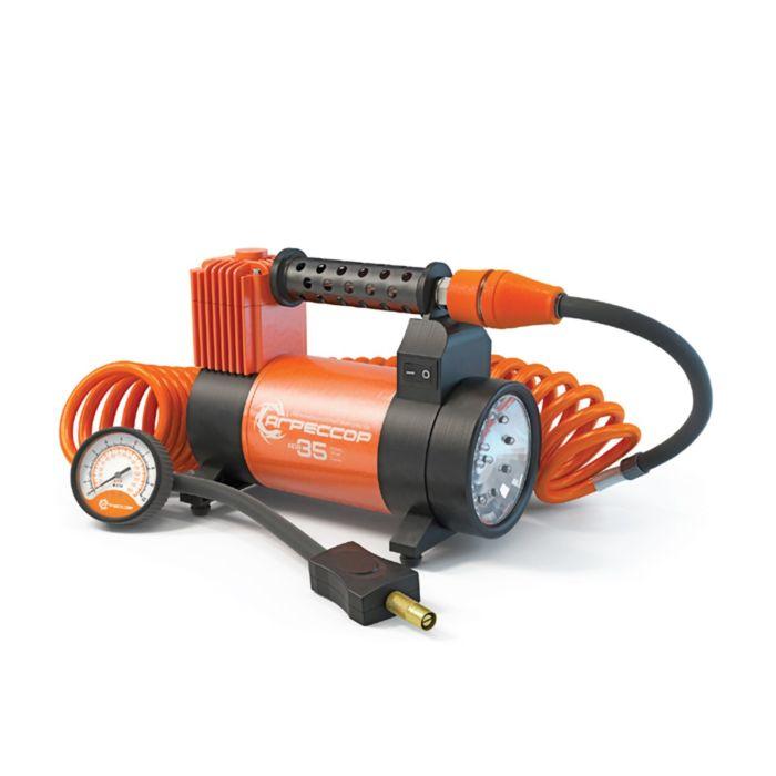 """Компрессор автомобильный """"Агрессор"""" AGR-35L, металлический, 12V, 180W, производительность 35 л/мин, LED фонарь, сумка"""