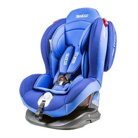 Детское кресло Sparco F2000K, группы 0+/1/2 (0-25 кг), велюр + вставки из полиэстера, цвет синий, (F2000K BL)