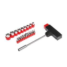 Насадки и сменные головки с держателем Top Tools, набор 21 шт. Ош