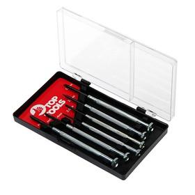 Набор отверток Top Tools, для точных работ, 6 шт., металлическая рукоятка, PH0-1, SL 1.4-3