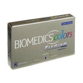 Цветные контактные линзы Biomedics Colors Premium - Aqua, -6.0/8,7, в наборе 2шт