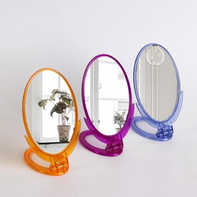 Зеркало складное-подвесное, зеркальная поверхность 8,5 × 12,5 см, цвет МИКС Ош
