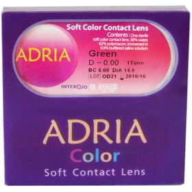 Цветные контактные линзы Adria 1Tone - Blue, -10.0/8,6, в наборе 2шт Ош