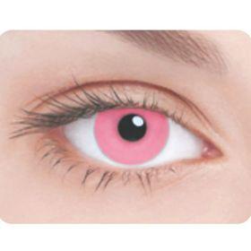 Карнавальные контактные линзы Adria Crazy - Розовая радужка, в наборе 1шт Ош
