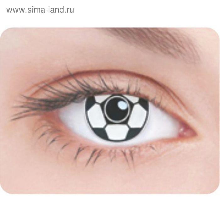 Карнавальные контактные линзы Adria Crazy - Футбольный мяч, в наборе 1шт