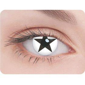 Карнавальные контактные линзы Adria Crazy - Черная звезда, в наборе 1шт Ош