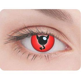 Карнавальные контактные линзы Adria Crazy - Дьявол, в наборе 1шт Ош