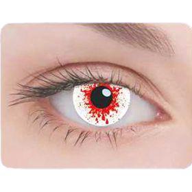 Карнавальные контактные линзы Adria Crazy - Кровь, в наборе 1шт Ош