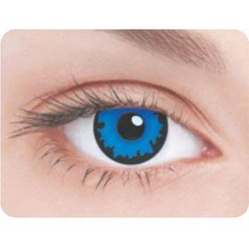 Карнавальные контактные линзы Adria Crazy - Синий пигмент, в наборе 1шт Ош