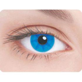 Карнавальные контактные линзы Adria Crazy - Синее колесо, в наборе 1шт Ош