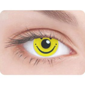 Карнавальные контактные линзы Adria Crazy - Улыбка, в наборе 1шт