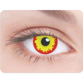 Карнавальные контактные линзы Adria Crazy - Дикий огонь, в наборе 1шт