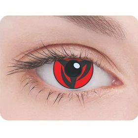 Карнавальные контактные линзы Adria Crazy - Шаринган, в наборе 1шт Ош