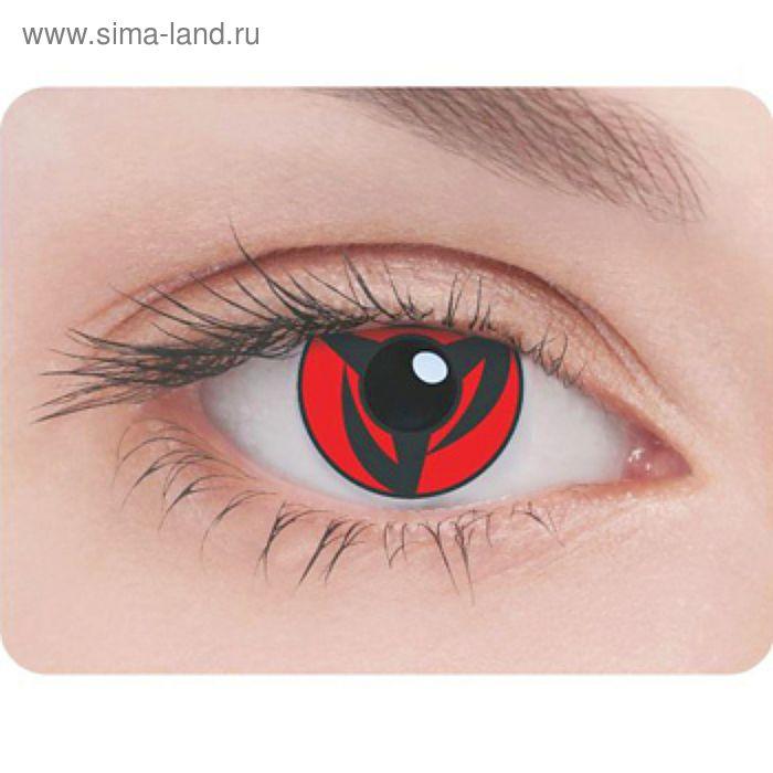 Карнавальные контактные линзы Adria Crazy - Шаринган, в наборе 1шт