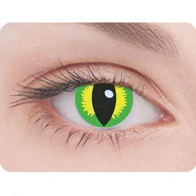 Карнавальные контактные линзы Adria Crazy - Глаз рептилии, в наборе 1шт