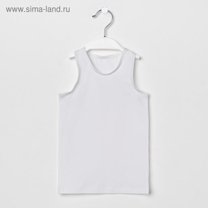 Майка спортивная для девочки, рост 110 см, цвет белый М 2.03