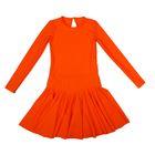 Платье спортивное для девочки, рост 122, цвет оранжевый Р 2.4