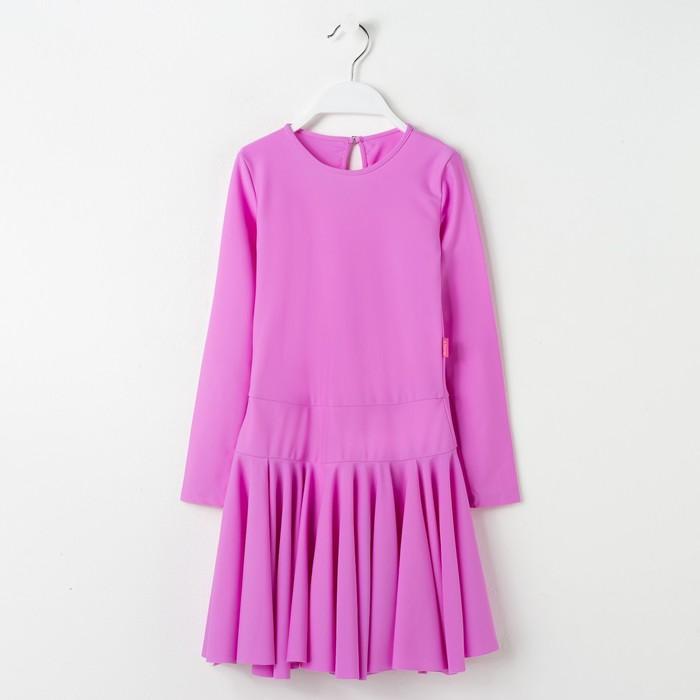 Платье спортивное для девочки, рост 140, цвет сиреневый Р 2.4