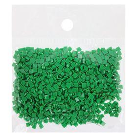 Стразы для алмазной вышивки, 10 гр, не клеевые, квадратные 2,5*2,5мм 911 Emerald Green Med Ош