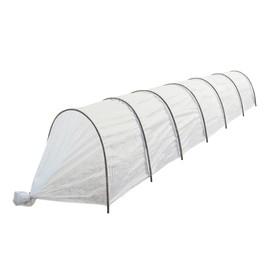 Парник, длина 6 м, 7 дуг из пластика, дуга L = 2 м, d = 16 мм, спанбонд 30 г/м², «Соломон» Ош