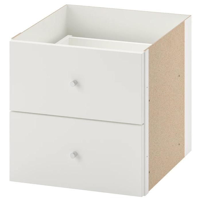 Вставка с 2 ящиками, цвет белый КАЛЛАКС