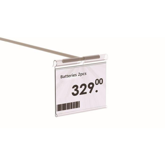 Ценникодержатель на крючок, откидной, 7*3,9 см, цвет прозрачный