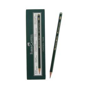 Карандаш художественный чёрнографитный Faber-Castel CASTELL® 9000 профессиональные 4H зелёный