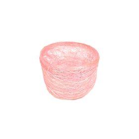Кашпо, сизаль, круг, гиацинт розовая 7 х 10 см Ош
