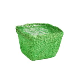 Кашпо, сизаль, квадрат, салатовая 10 х 14 х 14 см Ош