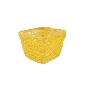 Кашпо, сизаль, квадрат, лимонная 10 х 14 х 14 см Ош