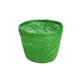 Кашпо, сизаль, круг, салатовая 10 х 12 см Ош