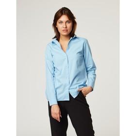 Рубашка женская трапеция, размер 40-42, голубой, хлопок 100% Ош