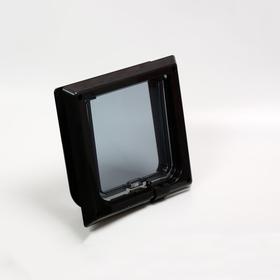 Дверца для кошек «БАРСИК», проём 145*145 мм, толщина двери 36-42 мм, чёрный Ош