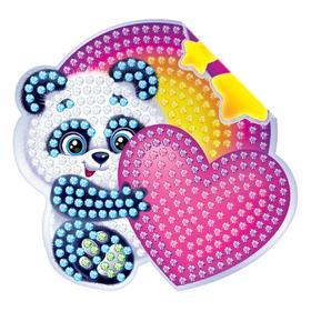 Алмазная вышивка наклейка для детей «Мишка», 10 х 10 см. Набор для творчества Ош