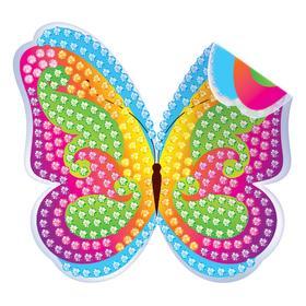 Алмазная вышивка наклейка для детей «Бабочка», 10 х 10 см. Набор для творчества Ош