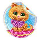 Алмазная вышивка наклейка для детей «Котик», 10 х 10 см. Набор для творчества